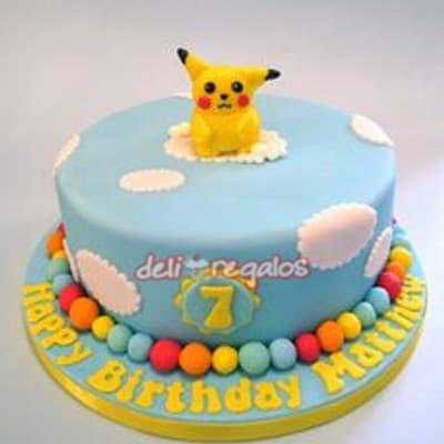 Poke Torta 08 - Codigo:PKG08 - Detalles: Deliciosa torta de keke ingles bañada con manjar blanco y decorada con masa elastica. Medidas 25cm de diametro. Presente incluye dedicatoria.  - - Para mayores informes llamenos al Telf: 225-5120 o 4760-753.