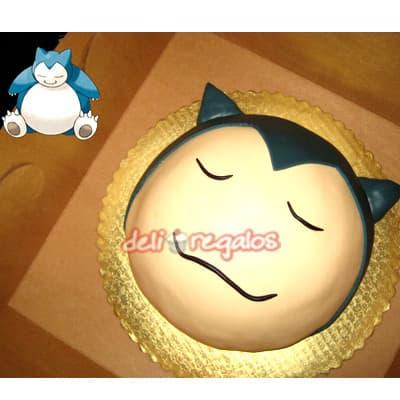 Torta Snorlak - Codigo:PKG09 - Detalles: Deliciosa torta de keke ingles bañada con manjar blanco y decorada con masa elastica. Medidas 20cm de diametro. Presente incluye dedicatoria.  - - Para mayores informes llamenos al Telf: 225-5120 o 4760-753.