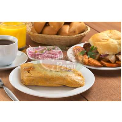 Tortas.com.pe - Especial Peruano - Codigo:PPP14 - Detalles: Exquisito desayuno en caja de regalo conteniendo: Cafe pasado especial, jugo de frutas, 2 panes especiales, 200g de delicioso chicharron y tamal. El presente incluye tarjeta de dedicatoria. - - Para mayores informes llamenos al Telf: 225-5120 o 476-0753.