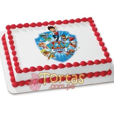 Diloconrosas.com - Foto Torta Paw Patrol - Codigo:PWP17 - Detalles: Torta a base de keke De Vainilla ba�ado con manjar blanco y forrado con masa elastica, incluye dise�o segun imagen. Tama�o: 20cm x 30cm - - Para mayores informes llamenos al Telf: 225-5120 o 476-0753.