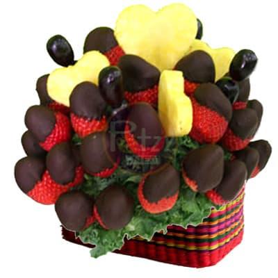 Arreglo Frutal en Cesta 03 - Codigo:QFP03 - Detalles: Lindo detalle para regalar compuesto por: Cesta de Mimbre que contiene frutas de estación según la imagen, el producto viene en caja sellada para garantizar su frescura. Este producto debe solicitarse con 24 horas de anticipación y tampoco podrá se entregado antes de las 8am.  - - Para mayores informes llamenos al Telf: 225-5120 o 4760-753.