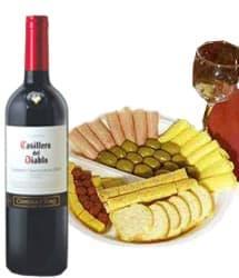 Gourmet para Papa - Codigo:REG01 - Detalles: Exquisito vino Casillero del diablo, 7 lonjas de jamon ingles acompa�ados de queso a las finas hierbas, 18 aceitunas verdes, queso, salchicha, 7 lonjas de queso, 3 palitos de ajonjoli, 6 tostaditas, juego de cubiertos, tarjeta de dedicatoria - - Para mayores informes llamenos al Telf: 225-5120 o 4760-753.