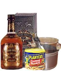 Tortas.com.pe - Elegante Regalos - Codigo:REG03 - Detalles: Whisky Chivas Regal, hielera cromada, pinza para hielo, mani planets - - Para mayores informes llamenos al Telf: 225-5120 o 476-0753.
