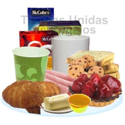 Lafrutita.com - Desayuno Secretaria 01 - Codigo:SET15 - Detalles: Exquisito Desayuno en bandeja conteniendo: Pack de infusiones, taza de cer�mica, Jugo de frutas, S�ndwich de Lomito Ahumado, porci�n de mermelada, porci�n de mantequilla, tostadas gourmet, 4 galletas choco chip, tartaleta de frutas, Juego de Cubiertos, servilleta y tarjeta de dedicatoria.  - - Para mayores informes llamenos al Telf: 225-5120 o 476-0753.