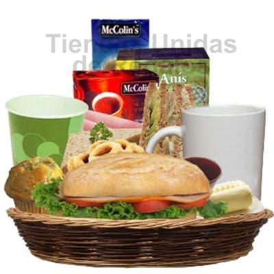 Lafrutita.com - Desayuno Secretaria 02 - Codigo:SET16 - Detalles: Exquisito Desayuno en bandeja conteniendo: Pack de infusiones, taza de cer�mica, s�ndwich de lomito ahumado en Pan Bimbo Especial,, muffin ba�ado en chocolate, porci�n de mermelada, porci�n de mantequilla,   Juego de Cubiertos, servilleta y tarjeta de dedicatoria.   - - Para mayores informes llamenos al Telf: 225-5120 o 476-0753.