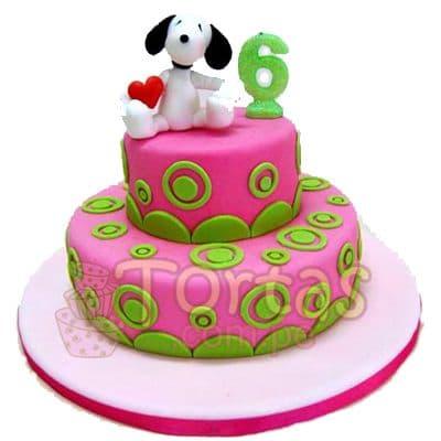 Tortas.com.pe - Torta Snoopy 02 - Codigo:SNP02 - Detalles: Torta hecha a base de queque De Vainilla  ,    en manjar blanco, forrado y decorado en su totalidad con masa el�stica. Mide  primer piso 25cm. Y el segundo nivel de 15 cm. De di�metro. Incluye snoopy en foto impresi�n no comestible. Base forrada en papel aluminio.  - - Para mayores informes llamenos al Telf: 225-5120 o 476-0753.