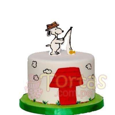 Diloconrosas.com - Torta Snoopy 06 - Codigo:SNP06 - Detalles: Torta hecha a base de queque De Vainilla  ,    en manjar blanco, forrado y decorado en su totalidad con masa el�stica. Mide 15 cm. De di�metro. Incluye snoopy en foto impresi�n no comestible.  - - Para mayores informes llamenos al Telf: 225-5120 o 476-0753.
