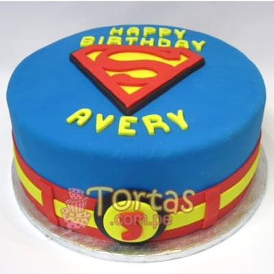 Tortas.com.pe - Torta SuperMan 06 - Codigo:SPN06 - Detalles: Delicioso keke De Vainilla ba�ado con manjar blanco y forrado con masa elastica. Tama�o: 25cm de diametro primer piso,  - - Para mayores informes llamenos al Telf: 225-5120 o 476-0753.