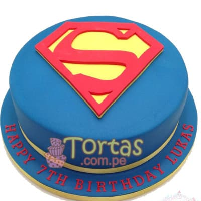 Tortas.com.pe - Torta SuperMan 07 - Codigo:SPN07 - Detalles: Delicioso keke De Vainilla ba�ado con manjar blanco y forrado con masa elastica. Tama�o: 25cm de diametro primer piso,  - - Para mayores informes llamenos al Telf: 225-5120 o 476-0753.