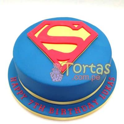 Tortas.com.pe - Torta Superman 11 - Codigo:SPN11 - Detalles: Delicioso keke De Vainilla ba�ado con manjar blanco y forrado con masa elastica. Tama�o: 20cm de diametro primer piso,  - - Para mayores informes llamenos al Telf: 225-5120 o 476-0753.