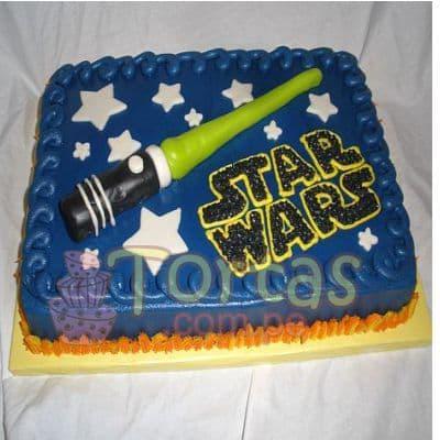 I-quiero.com - Torta StarWars03 - Codigo:STW03 - Detalles: Torta de queque De Vainilla  ,    en manjar blanco, forrado y decorado en masa elastica. Las medidas primer piso 25x25. - - Para mayores informes llamenos al Telf: 225-5120 o 476-0753.