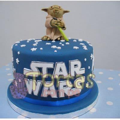Deliregalos.com - Torta StarWars06 - Codigo:STW06 - Detalles: torta de queque De Vainilla  ,    en manjar blanco, forrado y decorado en masa masa elastica. De las medidas15cm. De diametro. Incluye la imagen en foto-impresi�n no comestible.  - - Para mayores informes llamenos al Telf: 225-5120 o 476-0753.