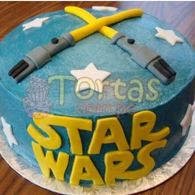 Deliregalos.com - Torta StarWars 07 - Codigo:STW07 - Detalles: Torta de queque De Vainilla  ,   en manjar blanco, forrado y decorado en masa elastica. De las medidas 20cm. De diametro.  - - Para mayores informes llamenos al Telf: 225-5120 o 476-0753.