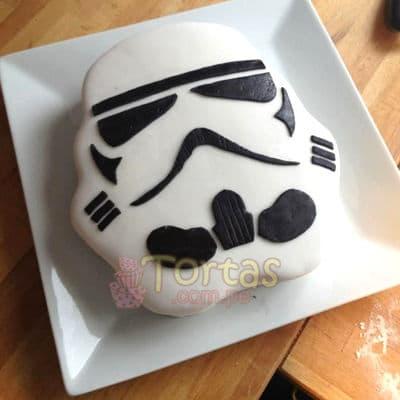 I-quiero.com - Torta Soldado Imperial 02 - Codigo:STW18 - Detalles: keke De Vainilla ba�ado con manjar blanco y torrado con masa elatica, dise�o segun imagen. Tam�o: 15x15cm - - Para mayores informes llamenos al Telf: 225-5120 o 476-0753.