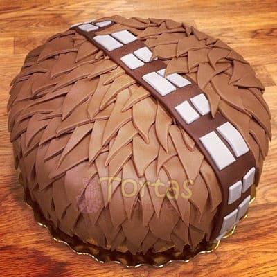 Deliregalos.com - Torta Chubaca 01 - Codigo:STW19 - Detalles: keke De Vainilla ba�ado con manjar blanco y torrado con masa elatica, dise�o segun imagen. Tam�o: 20cm de diaemtro - - Para mayores informes llamenos al Telf: 225-5120 o 476-0753.
