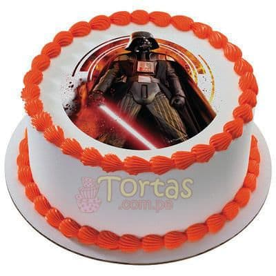 Deliregalos.com - Torta Darth Vader - Codigo:STW20 - Detalles: keke De Vainilla ba�ado con manjar blanco y torrado con masa elatica, dise�o segun imagen. Tam�o: 20 cm de diametro - - Para mayores informes llamenos al Telf: 225-5120 o 476-0753.