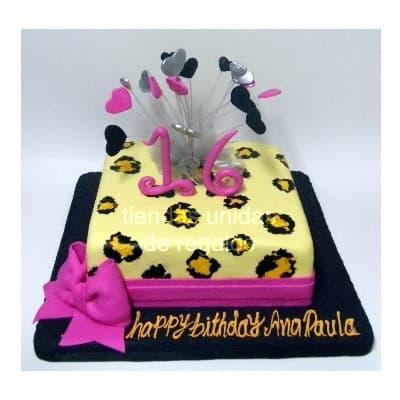 Torta Animal Print 01 - Codigo:TAP01 - Detalles: Deliciosa torta de keke ingles, bañado con manjar blanco y forrado con masa elástica. La medida de 25x25, rinde aproximadamente 25 porciones - - Para mayores informes llamenos al Telf: 225-5120 o 4760-753.