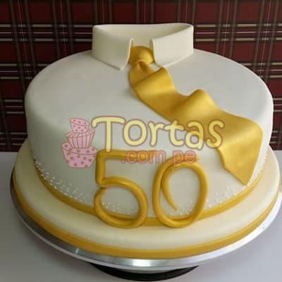 Lafrutita.com - Torta 50 a�os 09 - Codigo:TCS09 - Detalles: Delicioso queque De Vainilla   forrada en masa el�stica. Medidas: 20cm de di�metro, dise�o seg�n imagen - - Para mayores informes llamenos al Telf: 225-5120 o 476-0753.