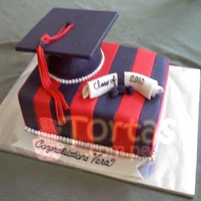Lafrutita.com - Torta Graduacion - Codigo:ENP16 - Detalles: Deliciosa torta de keke De Vainilla    y ba�ado en manjar blanco. De las medidas primer nivel 20x30. Rinde aproximadamente 25 porciones. Incluye birrete no comestible.  - - Para mayores informes llamenos al Telf: 225-5120 o 476-0753.