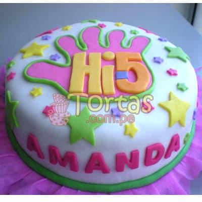 Lafrutita.com - Torta Hi5 -06 - Codigo:THI06 - Detalles: Deliciosa torta a base de keke De Vainilla ba�ado con manjar blanco y forrado con masa elastica. La torta tiene medidas de: 15cm de diametro. Incluye decoracion haciendo referencia a la imagen.  - - Para mayores informes llamenos al Telf: 225-5120 o 476-0753.
