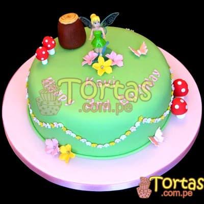 Torta Tinkerbell 08 - Codigo:TKB08 - Detalles: Deliciosa torta a base de keke ingles , bañado con manjar blanco y forrado en su totalidad con masa elástica, la torta es de medidas:  Piso de 20cm de diametro incluye foto impresion de tinkerbell incluye flores y detalles segun imagen. LA BASE COTIZADA PARA LA OFERTA ES EN ALUUMINIO. - - Para mayores informes llamenos al Telf: 225-5120 o 4760-753.