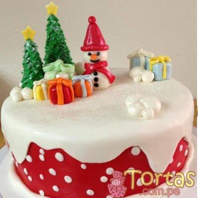 Torta Navidad 25cm - Codigo:TNA09 - Detalles: Keke ingles ba�ado en manjar blanco y forrado en masa elastica, incluye dise�o segun imagen. Medidas: 25cm de diametro  - - Para mayores informes llamenos al Telf: 225-5120 o 4760-753.