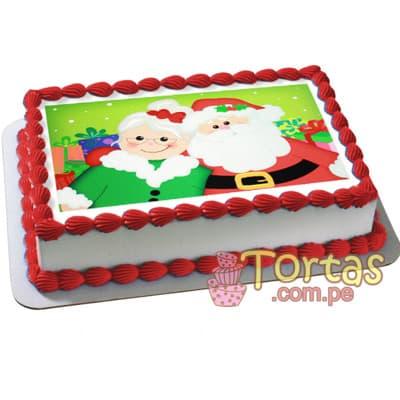 Foto Torta Navidad - Codigo:TNA11 - Detalles: Keke ingles ba�ado en manjar blanco y forrado en masa elastica, incluye dise�o segun imagen. Medidas: 20cm x30cm incluye foto impresion comestible con tintas naturales. - - Para mayores informes llamenos al Telf: 225-5120 o 4760-753.