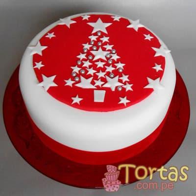 Torta Navidad - Codigo:TNA13 - Detalles: Keke ingles bañado en manjar blanco y forrado en masa elastica, incluye diseño segun imagen. Medidas: 20cm de diametro   - - Para mayores informes llamenos al Telf: 225-5120 o 4760-753.