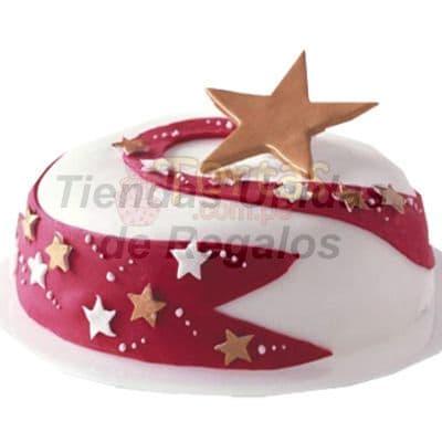 Torta Estrella de navidad - Codigo:TNA18 - Detalles: Deliciosa torta de 20 cm de di�metro cubierta con una fina masa el�stica.  El queque es ingles relleno con frutas y pasas. - - Para mayores informes llamenos al Telf: 225-5120 o 4760-753.