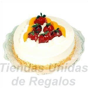 Diloconrosas.com - Torta Rapida 07 - Codigo:TNR07 - Detalles: Deliciosa torta de fresas, manjarblanco y crema chantilly natural, de 2 Kilos, incluye tarjeta de dedicatoria. - - Para mayores informes llamenos al Telf: 225-5120 o 476-0753.