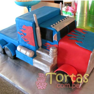 Tortas.com.pe - Torta Optimus Prime 04 - Codigo:TRF04 - Detalles: Torta de keke De Vainilla , ba�ada con manjar blanco y forrada con masa el�stica. incluye dise�o seg�n imagen. Tama�o: 20cm x 30cm y altura de 20cm aproximadamente - - Para mayores informes llamenos al Telf: 225-5120 o 476-0753.