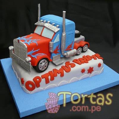 Tortas.com.pe - Torta Optimus Prime 07 - Codigo:TRF07 - Detalles: Torta de keke De Vainilla , ba�ada con manjar blanco y forrada con masa el�stica. incluye dise�o seg�n imagen. Tama�o: 20cm x 30cm que es la torta del Primer piso el segundo incluye un dise�o en 3 Dimensiones de Optimus Prime.  - - Para mayores informes llamenos al Telf: 225-5120 o 476-0753.