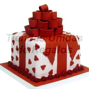 Diloconrosas.com - Torta Especial 02 - Codigo:TRR02 - Detalles: Delicioso keke De Vainilla en forma de cajita de regalo, ba�ada con manjar blanco y forada con masa elastica . Medidas 15cm x 15cm  - - Para mayores informes llamenos al Telf: 225-5120 o 476-0753.