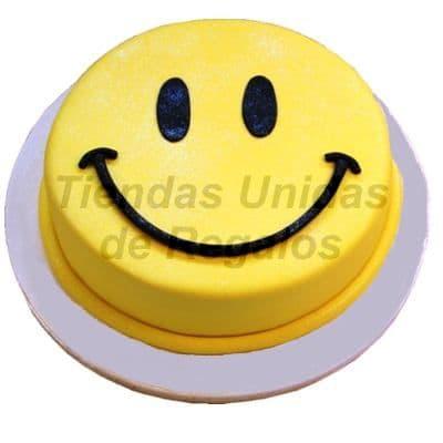 Diloconrosas.com - Torta cara feliz - Codigo:TRR04 - Detalles: Deliciosa torta en keke de vainilla de medidas de 20cm de diametro el keke  viene ba�ado  en manjar blanco y finamente decorado  con masa el�stica, incluye dise�o seg�n imagen de una cara feliz.  - - Para mayores informes llamenos al Telf: 225-5120 o 476-0753.