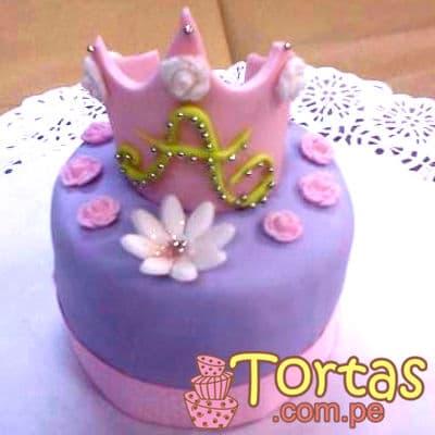 Torta Corona Sofia - Codigo:TSI03 - Detalles: Deliciosa torta de keke ingles, bañado con manjar blanco y forrado con masa elástica. Torta de 10cm de diametro, incluye corona segun imagen. - - Para mayores informes llamenos al Telf: 225-5120 o 4760-753.