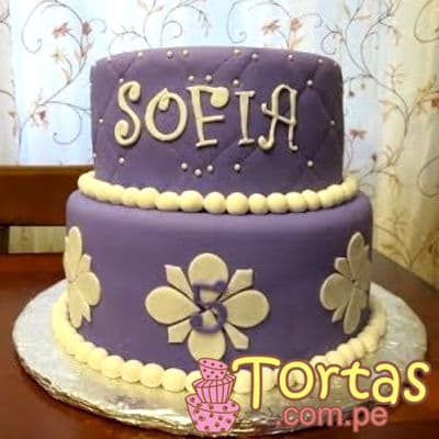 Torta Princesa Sofia 08 - Codigo:TSI08 - Detalles: Deliciosa torta de keke ingles, bañado con manjar blanco y forrado con masa elástica. Primer piso de 20cm de diametro segundo piso de 15cm de diametro. - - Para mayores informes llamenos al Telf: 225-5120 o 4760-753.