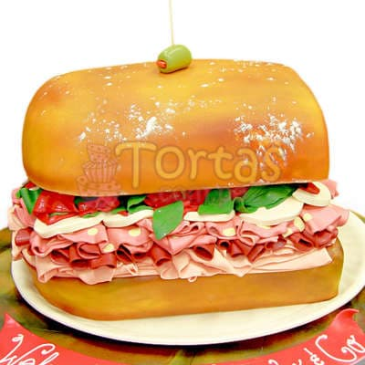 Torta Hamburguesa   Torta Sandwich 2 - Cod:WAS16