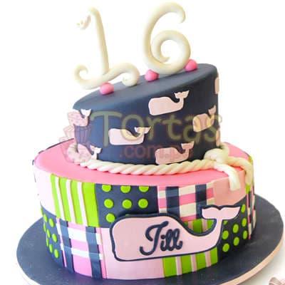 Torta Artistica   Torta en forma de Ballena - Cod:WAS17