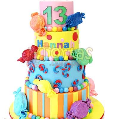 Torta Caramelos   Torta de Caramelos - Cod:WAS22