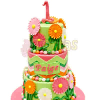 Pastelería en Peru   Torta con Flores de azucar - Cod:WAS24