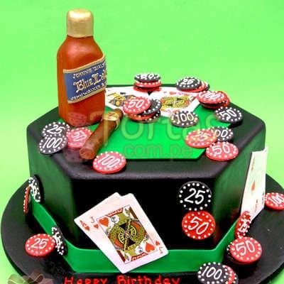 Torta Casino   Torta Casino con Whisky - Cod:WAS25
