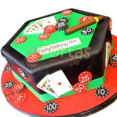 Torta Casino   Torta para Casino con habano - Cod:WAS26