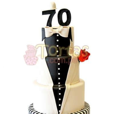 Torta Terno   Torta en forma de Terno para Caballero - Cod:WAS27