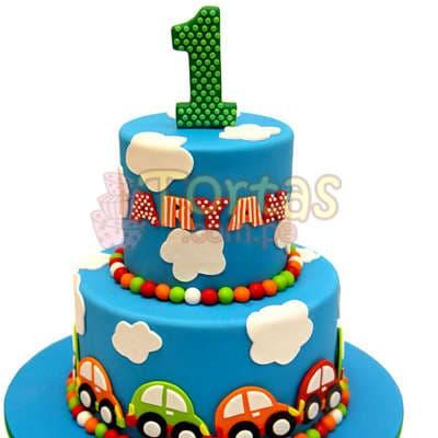Torta Carritos   Torta con Carritos de azucar - Cod:WAS30