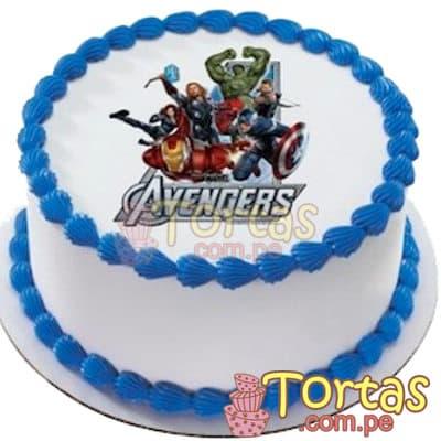 Torta  Avengers 17 - Codigo:WBE17 - Detalles: Delicioso queque ingles de 20cm de diametro, relleno de frutos secos y decorado finamente con masa elástica, incluye foto-impresion con tema Avengers. - - Para mayores informes llamenos al Telf: 225-5120 o 4760-753.