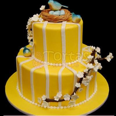 Torta Ni�a 55 - Codigo:WBE55 - Detalles: Delicioso queque ingles relleno  de frutas secas, pasas, decorada finamente en masa el�stica.Med. 1er Nivel 25Cmt, 2do Nivel 15Cmt de diametro.  - - Para mayores informes llamenos al Telf: 225-5120 o 4760-753.