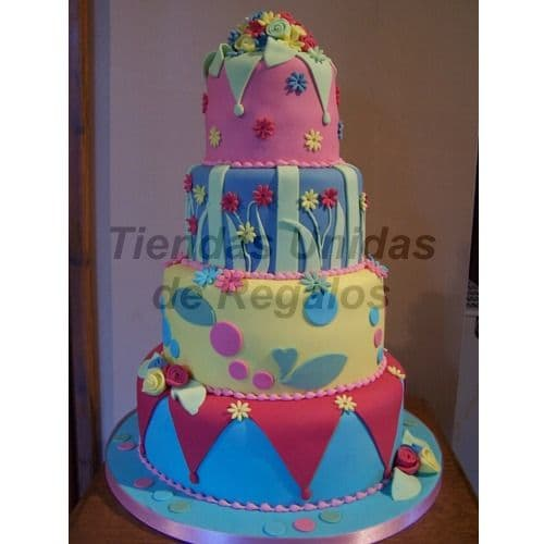 Diloconrosas.com - Torta Ni�o 69 - Codigo:WBE69 - Detalles: Delicioso queque De Vainilla    decorada finamente en masa el�stica, MED. 1er Nivel  35Cmt, 2do Nivel 25Cmt, 3er Nivel  20Cmt, 4to Nivel 10cm de diametro es hecho de maqueta.