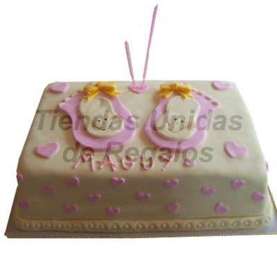 Torta Baby Shower 04 - Codigo:WBS04 - Detalles: Deliciosa Torta hecho a base de queque ingles, relleno de frutos secos, pasas y  finamente decorado  a base de masa elástica. MED. 20 x 30 Cmt, Rinde aprox. para  30 porciones. - - Para mayores informes llamenos al Telf: 225-5120 o 4760-753.
