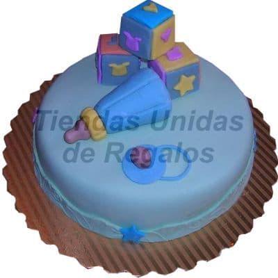 Torta Juguetes de bebe 05 - Codigo:WBS05 - Detalles: Deliciosa torta hecho  a base de queque ingles, relleno de fruta confitada y pasas, finamente decorado y modelado  a  base de masa elástica, Med  20Cmt de diametro,  - - Para mayores informes llamenos al Telf: 225-5120 o 4760-753.