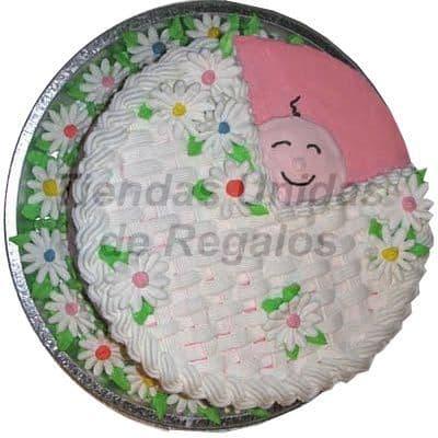 I-quiero.com - Torta Baby Shower 07 - Codigo:WBS07 - Detalles: Deliciosa torta hecho  a base de queque De Vainilla,   y  finamente decorado y modelado  a  base de masa el�stica, Med  25Cmt, Rinde aprox. Para 25 porciones,  - - Para mayores informes llamenos al Telf: 225-5120 o 476-0753.